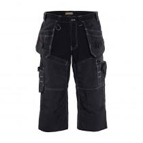 Pantacourt de travail X1500 Blaklader 100% coton 270 g/m² Noir avant