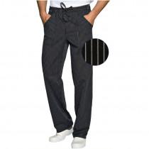 Pantalon de cuisine noir à rayures Isacco Vienna Nero