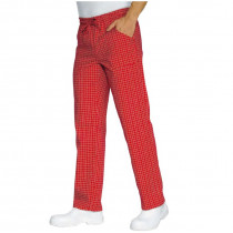 Pantalon de cuisine rouge à carreaux Isacco Denver