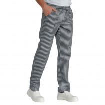 Pantalon de Cuisine Isacco Pantalaccio Gris à rayures