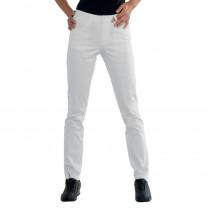 Pantalon de travail femme blanc Isacco Pantalone Margarita