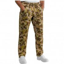 Pantalon de cuisine Camouflage Kaki Isacco Mimetico