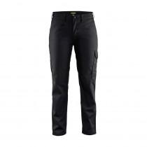 Pantalon de travail industrie femme Blaklader Noir avant