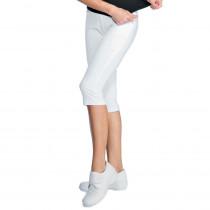 Legging femme court  blanc Isacco