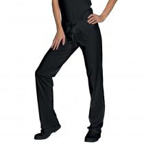Pantalon de travail cuisine/médical femme noir Isacco Pantajersey