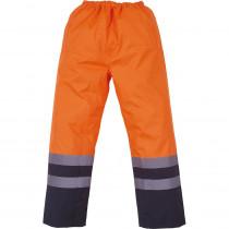 Surpantalon haute visibilité imperméable YOKO Orange/marine