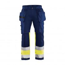 Pantalon artisan poches flottantes haute visibilité Blaklader +STRETCH