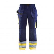 Pantalon de travail artisan haute visibilité Blaklader polycoton
