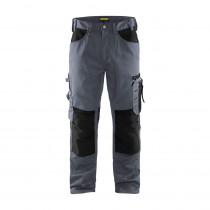 Pantalon de travail artisan sans poches flottantes Blaklader polycoton Gris noir avant