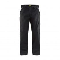 Pantalon de travail industrie Blaklader 100% coton 320 g/m² Noir gris avant