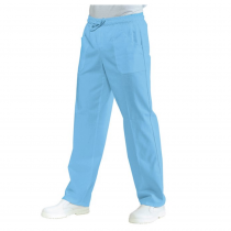Pantalon médical élastiqué Isacco Bleu Ciel