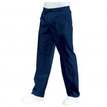 Pantalon de travail médical / cuisine taille élastiqué Isacco Bleu ...