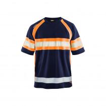 T-shirt haute visibilité Blaklader anti-UV et anti-odeurs Marine/Orange face