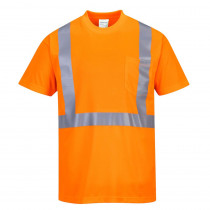 Tee-Shirt haute visibilité Portwest Pocket - Orange