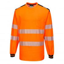 T-Shirt de travail manches longues haute visibilité bicolore Portwe...