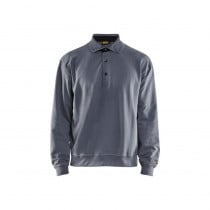 Sweat de travail Blaklader col polo 100% coton