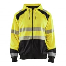 Sweat shirt à capuche haute visibilité Blaklader zippé classe 2