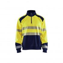 Sweat shirt col camionneur haute visibilité Blaklader Classe 2