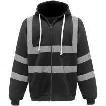 Sweat-shirt de travail zippé à capuche Yoko haute visibilité