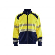 Sweat shirt zippé haute visibilité Blaklader Classe 2