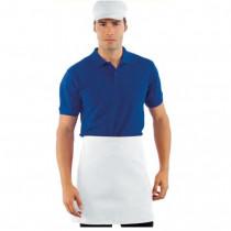 Tablier de cuisine blanc Isacco 100% coton avec poche