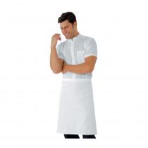 Tablier de cuisine blanc sans poches Isacco Vita 70 x 60cm