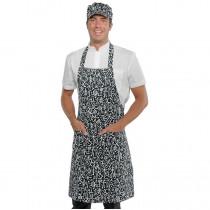Tablier de cuisine japonais à bavette Isacco Pettorina Sushi noir e...