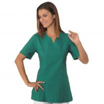 Blouse médicale femme Isacco manches courtes Verte