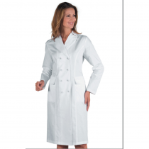 Blouse blanche médicale femme Isacco Doppio Petto manches longues
