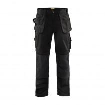 Pantalon de travail artisan bas amovibles Blaklader polycoton Noir avant
