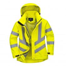 Parka femme haute-visibilité respirante Portwest 300D jaune face