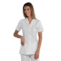 Tunique médical blanche femme Isacco Coimbra 100% coton manches cou...
