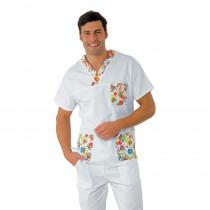 Tunique médicale unisexe Isacco blanc motifs Clown