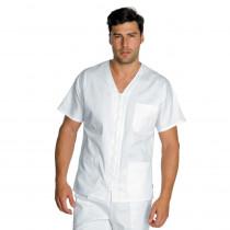 Tunique blanche médical Isacco Milano Unisexe 100% coton zip central