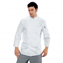 Veste de cuisine blanche Isacco Polycoton boutons pressions