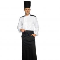 Veste de cuisine Blanche et Noir Malaga Isacco