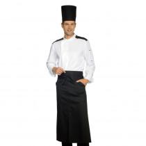 Veste de cuisine respirante manches longues Blanche et Noir Isacco ...