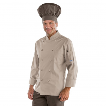 Veste de cuisine Beige Classique Isacco