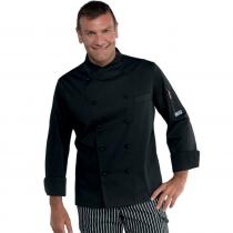 Veste de cuisine Noir Panama Isacco