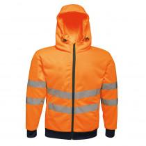 Veste à capuche zippée haute visibilité Regatta Professional PRO FU...