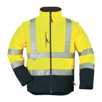 Veste softshell haute visibilité 2en1 Bicolore Coverguard Station m...