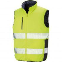 Bodywarmer de sécurité réversible Homme Result jaune