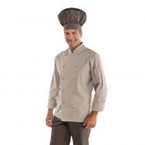 Veste de cuisine Gris Tortora Isacco Cuoco manches longues