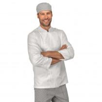 Veste de cuisine Blanche Isacco Boutons cousus 100% coton