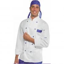 Veste de cuisine blanche à motifs Isacco Atlanta