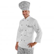 Veste de cuisine blanche à motifs Isacco Bicolore