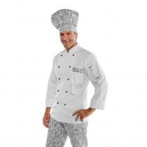 Veste de cuisine blanche à motifs New York Isacco Atlanta