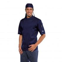 Veste de cuisine Bleu marine Isacco Bilbao Manches courtes