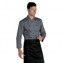 Veste de cuisine grise Isacco Cuoco manches longues
