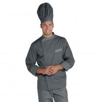 Veste de cuisine grise Durango Isacco manches longues
